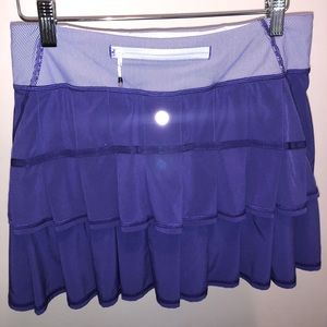 Lululemon Purple Tennis Skirt Pleated & stripe top